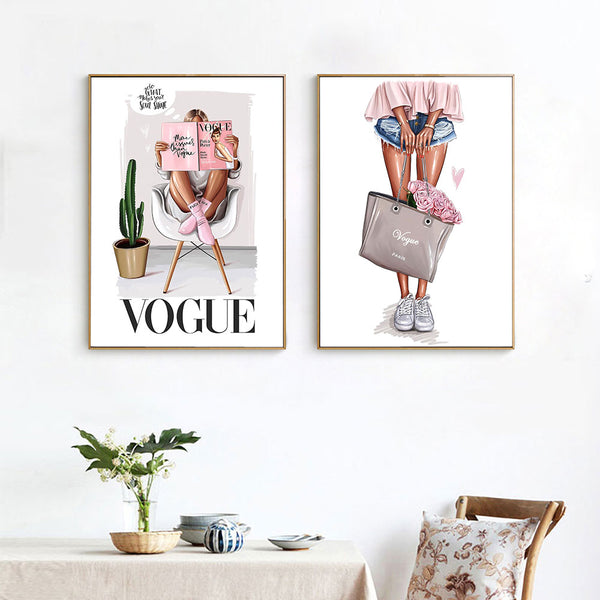 Vogue Girl Canvas Artwork