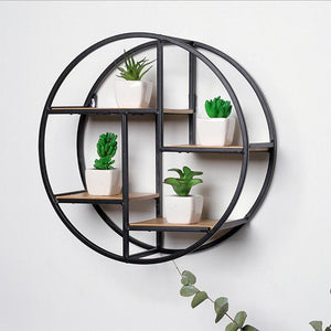 Fashion Wall Mounted Iron Shelf