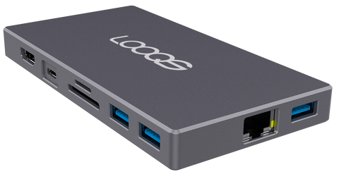 Concentrador USB-C 9 en 1 y base SSD