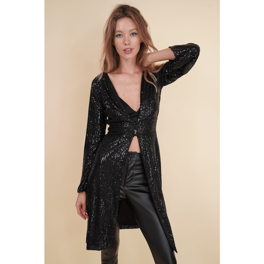 Aroma Couture Blazers Sequins long sleeve, overcoat