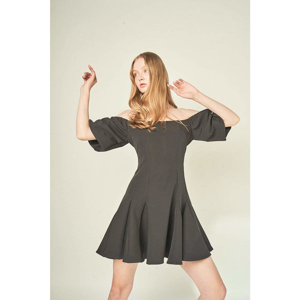 Aroma Couture Dress Off the shoulder, mini dress.