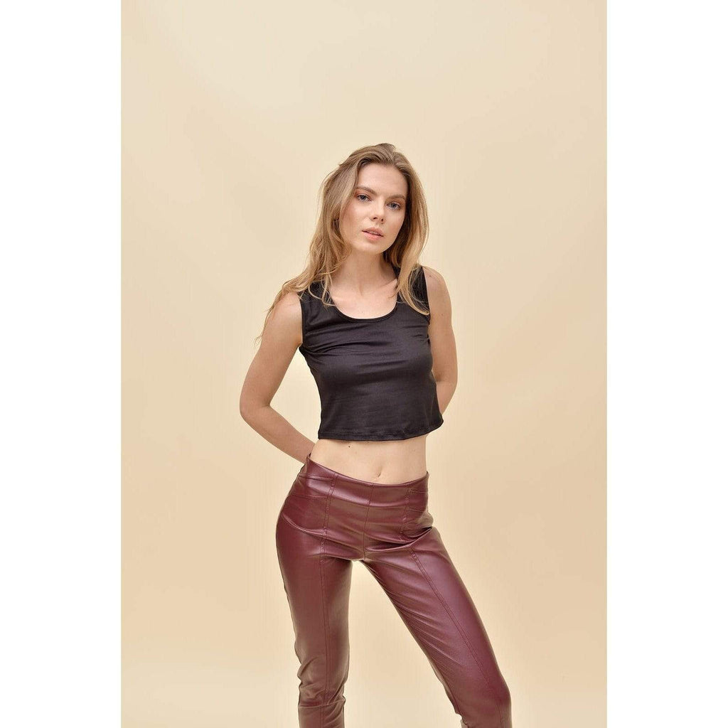 Aroma Couture Faux leather straight leggings