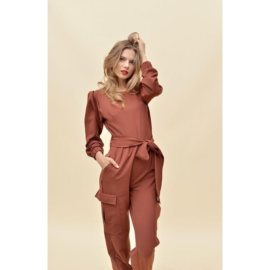 Aroma Couture Long sleeve cargo palazzo