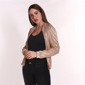 Aroma Couture Lurex, jacket with zipper.