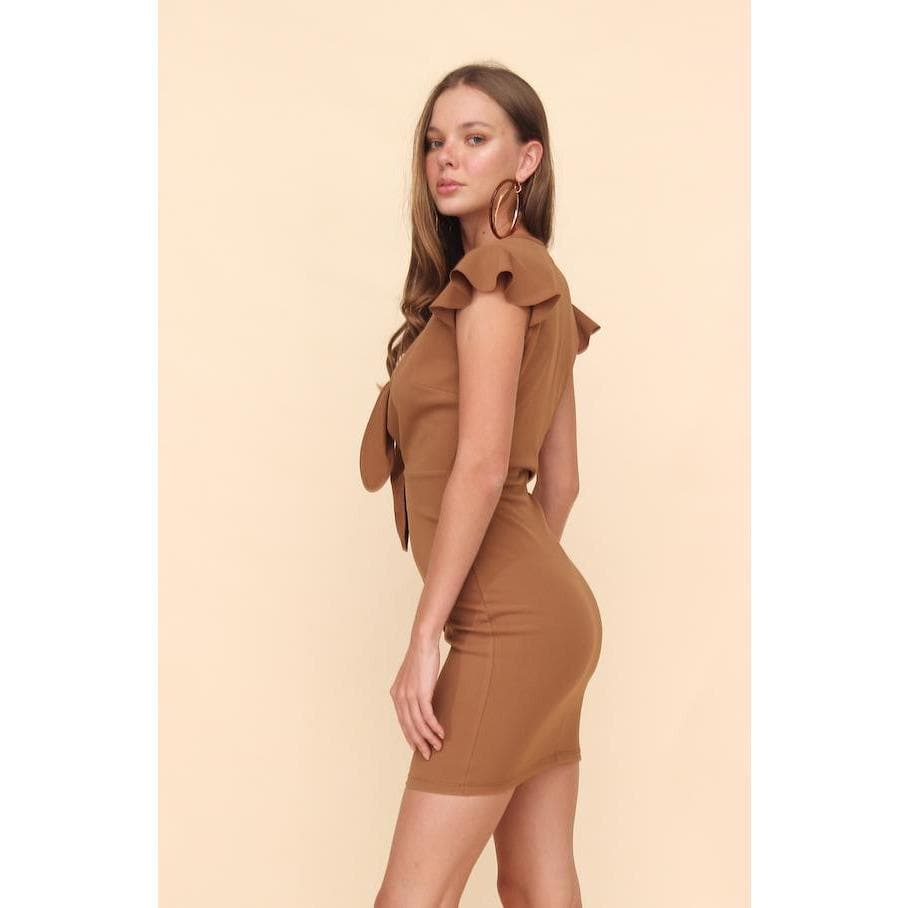 Aroma Couture Mini bodycon dress with buttons