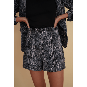 Aroma Couture Shorts Paperwaist snake print short