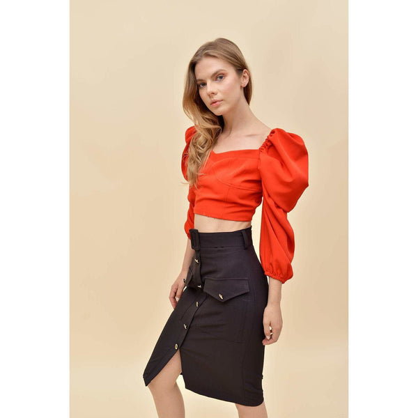 Aroma Couture Skirts Pencil midi skirt with belt.