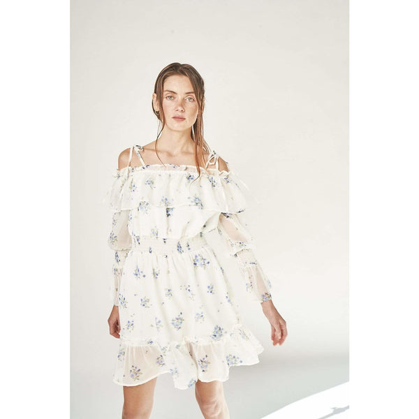 H Apparel by Hispania Dress Flower print, sheer mini dress.