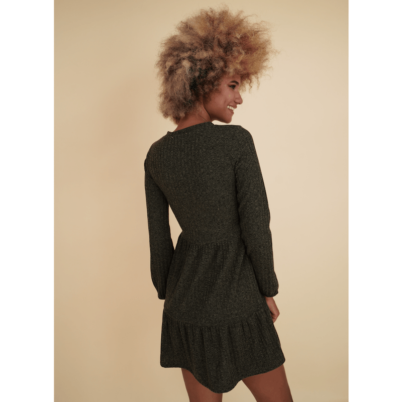 H Apparel by Hispania Dress Knitted loose long sleeve dress