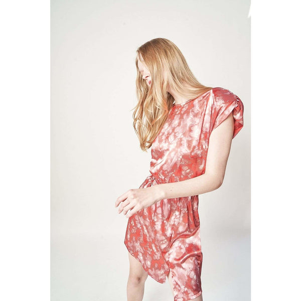 H Apparel by Hispania Dress Padded tie dye, satin dress.