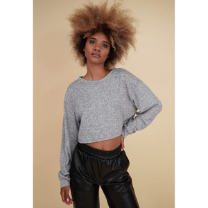 H Apparel by Hispania Sueters Loose long sleeve sweater crop top