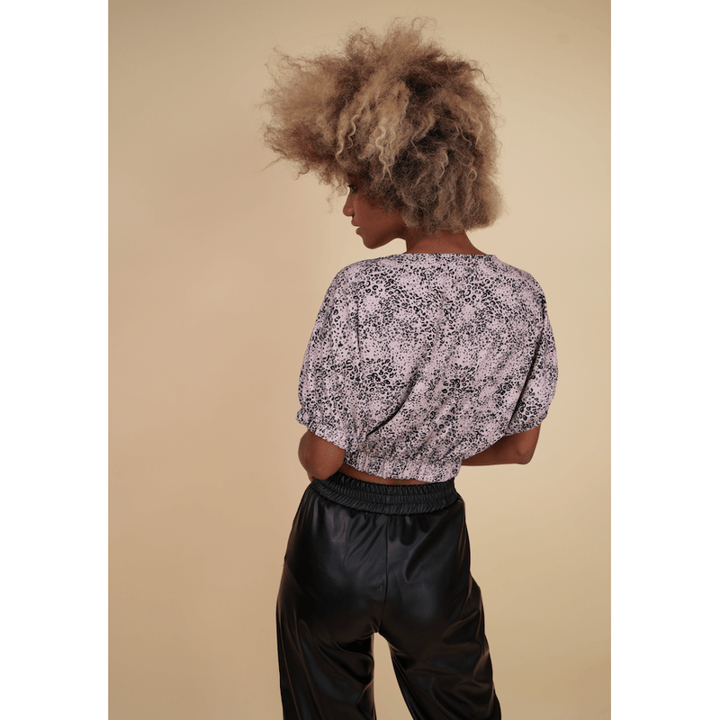 H Apparel by Hispania tops Animal print circular top