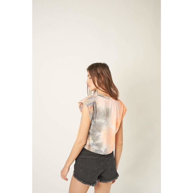 H Apparel by Hispania tops Padded muscle tee, tie dye top.