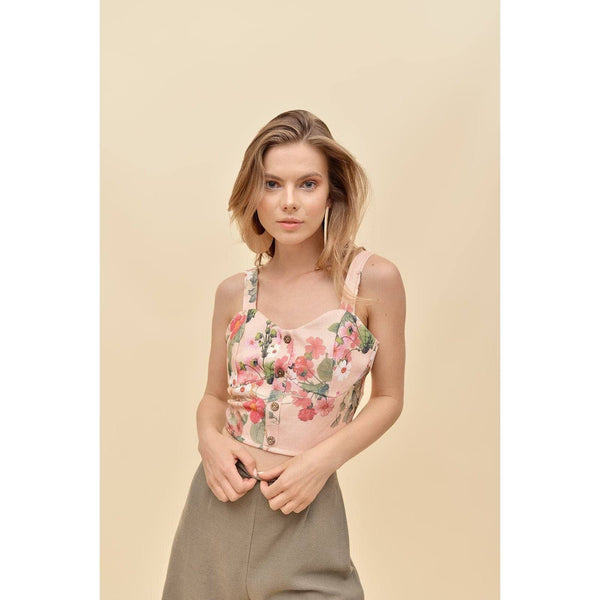 H Apparel Flower print, crop top
