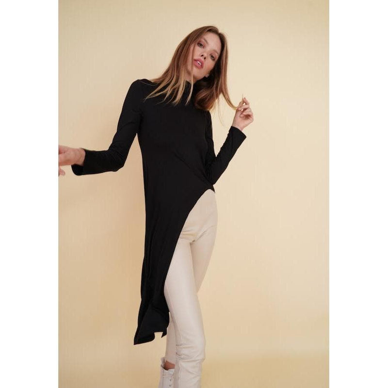H Apparel Long sleeve, turttle neck maxi top