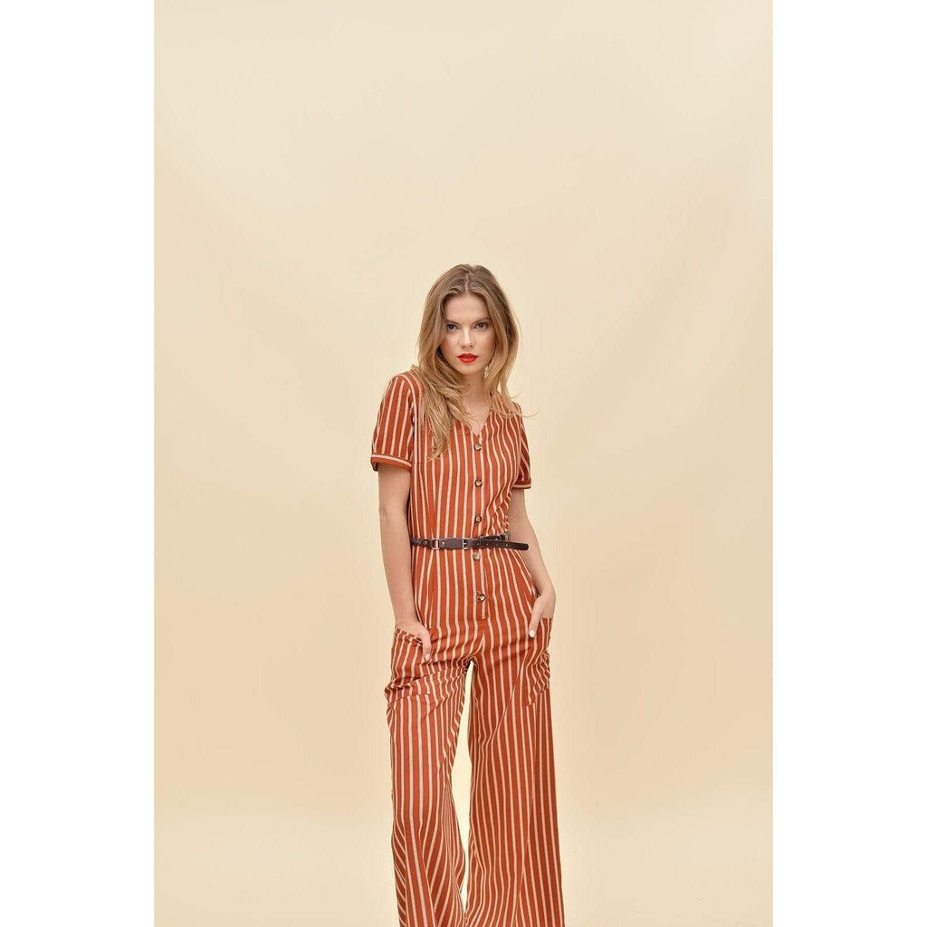 H Apparel Stripes palazzo, with pocket