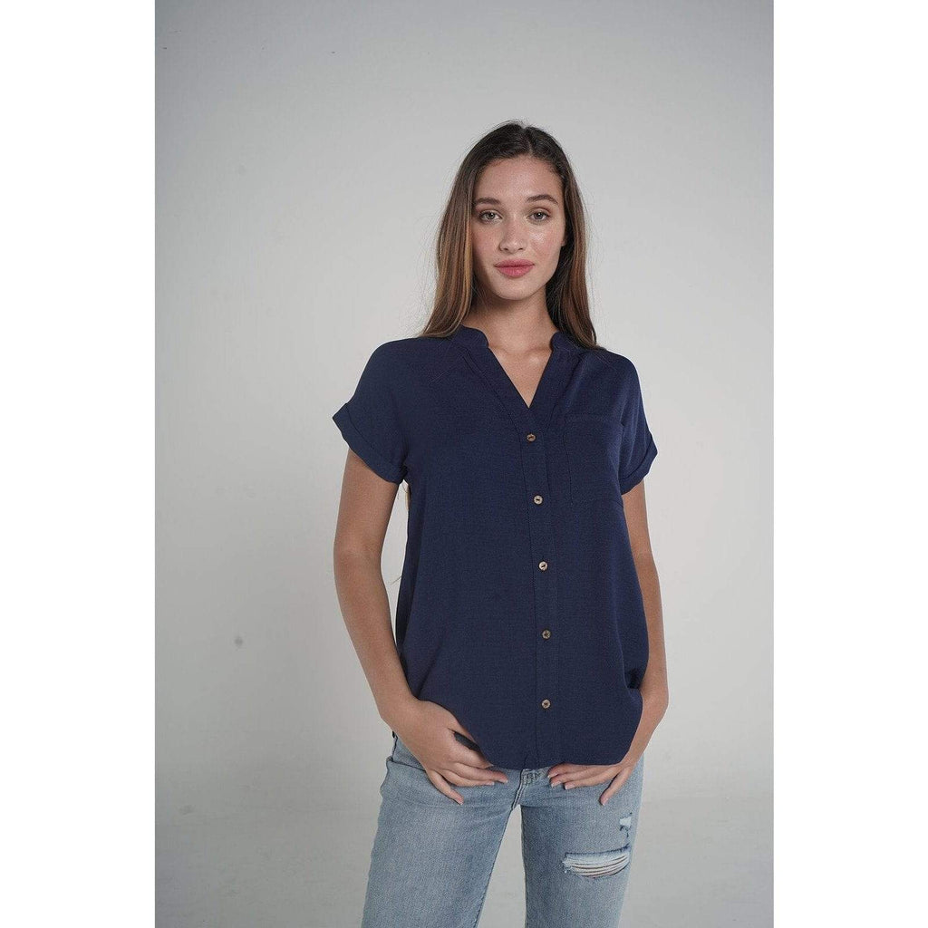 H Apparel tops Loose blouse with buttons