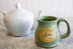 12 oz Oliver Pluff Mug - Pistachio -- Hand Thrown and Made in the USA