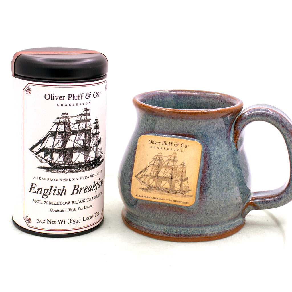 12 oz Oliver Pluff Mug - Stormy Blue -- Hand Thrown and Made in the USA