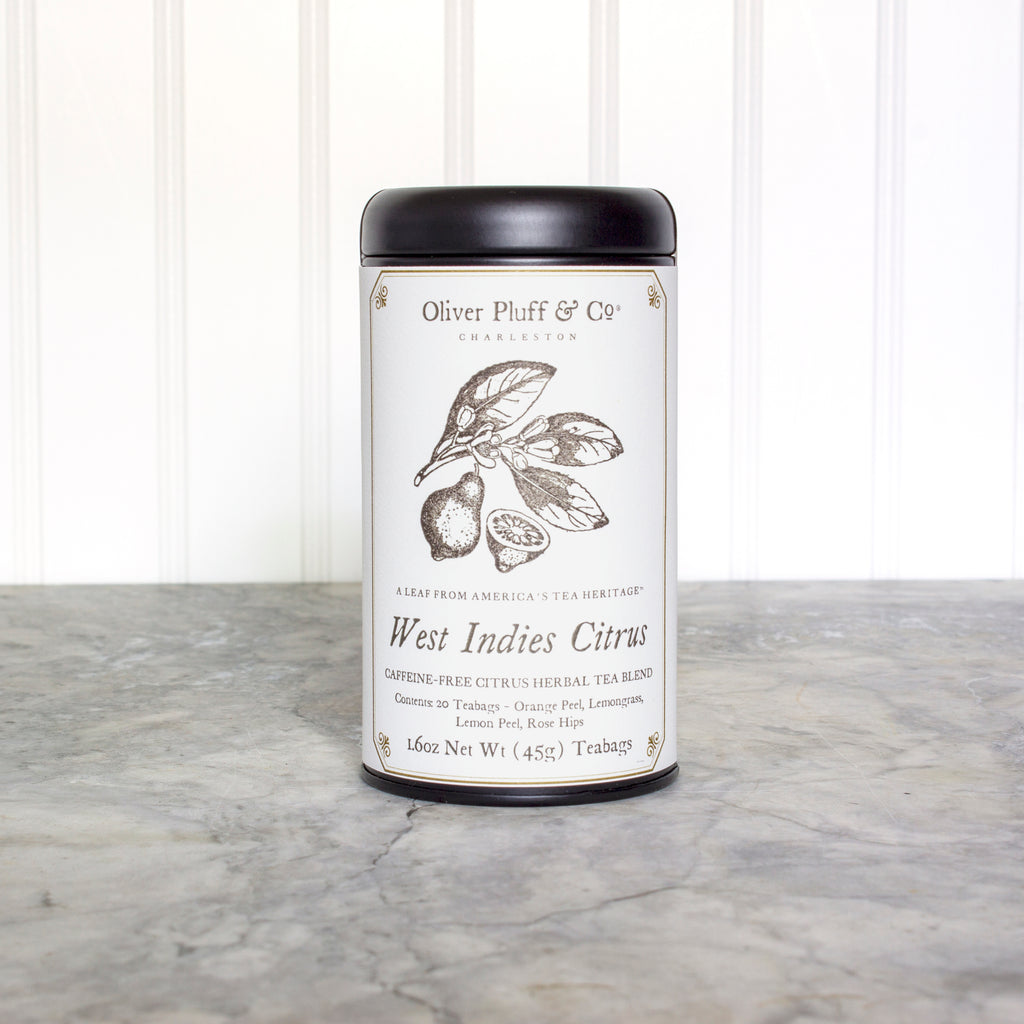 West Indies Citrus Teabags in Signature Tea Tin
