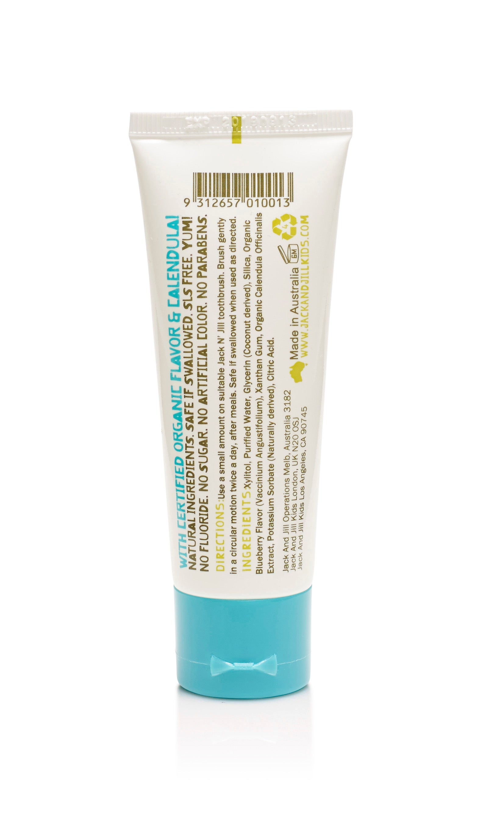 Jack N' Jill Natural Toothpaste - Organic Blueberry 50g