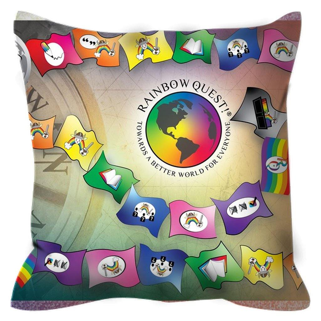 Outdoor Pillows with a Rainbow Quest! Attitude