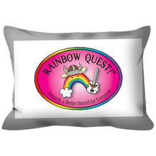 Load image into Gallery viewer, Outdoor Pillows with a Rainbow Quest! Attitude