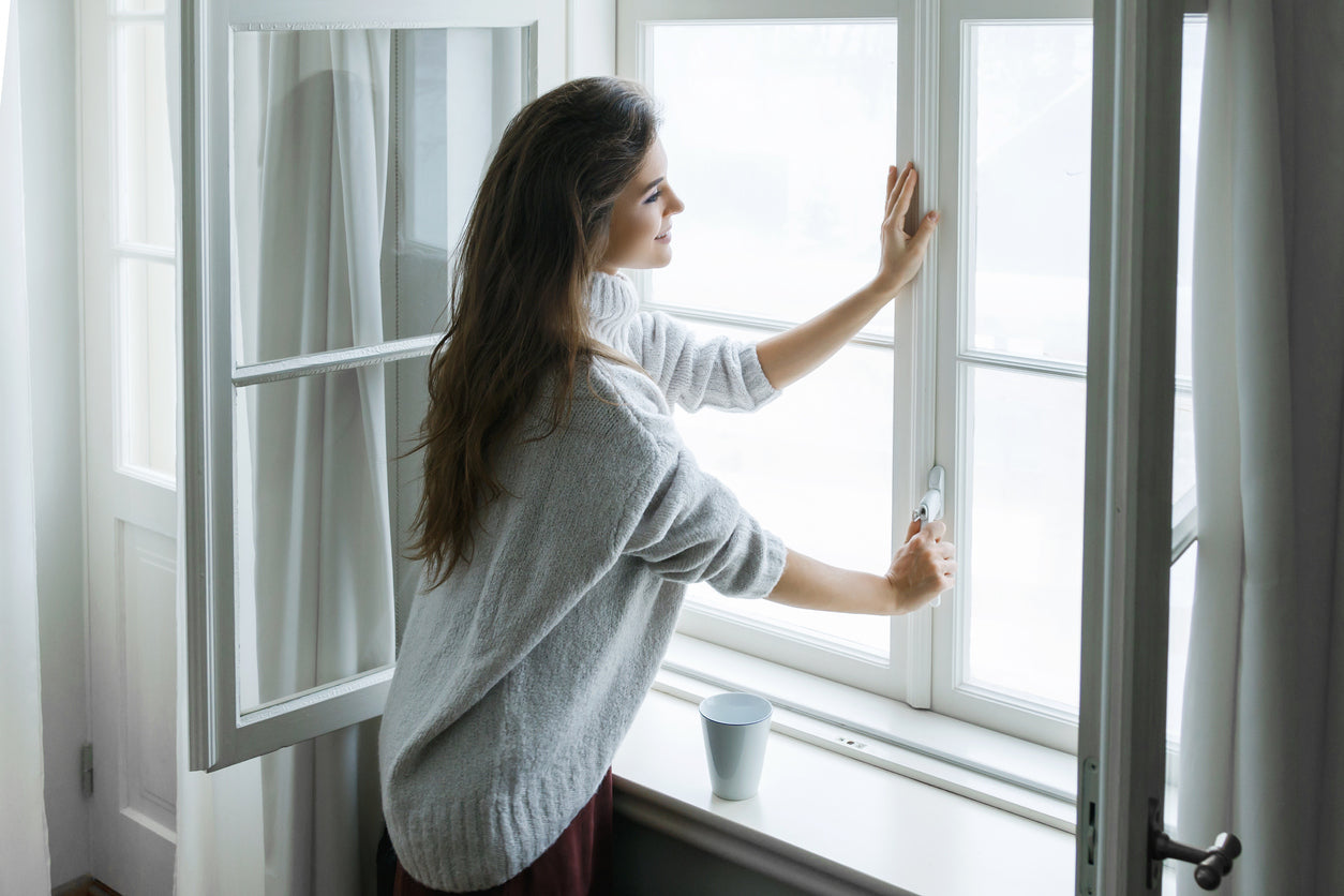 closing windows to winterize home