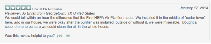 finn air purifier for allergies