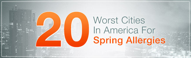 worst cities for spring allergies