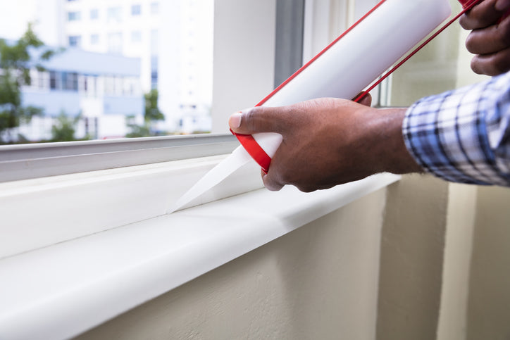 sealing window frame to prevent water damage