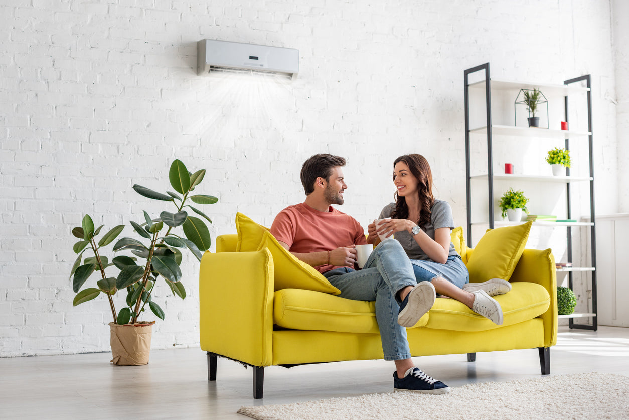 couple enjoying air conditioning