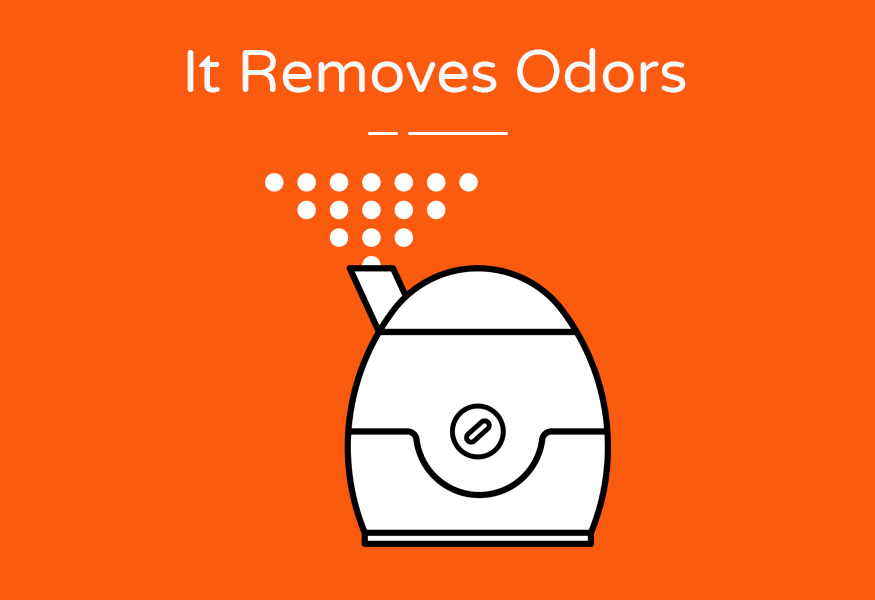 removes odors