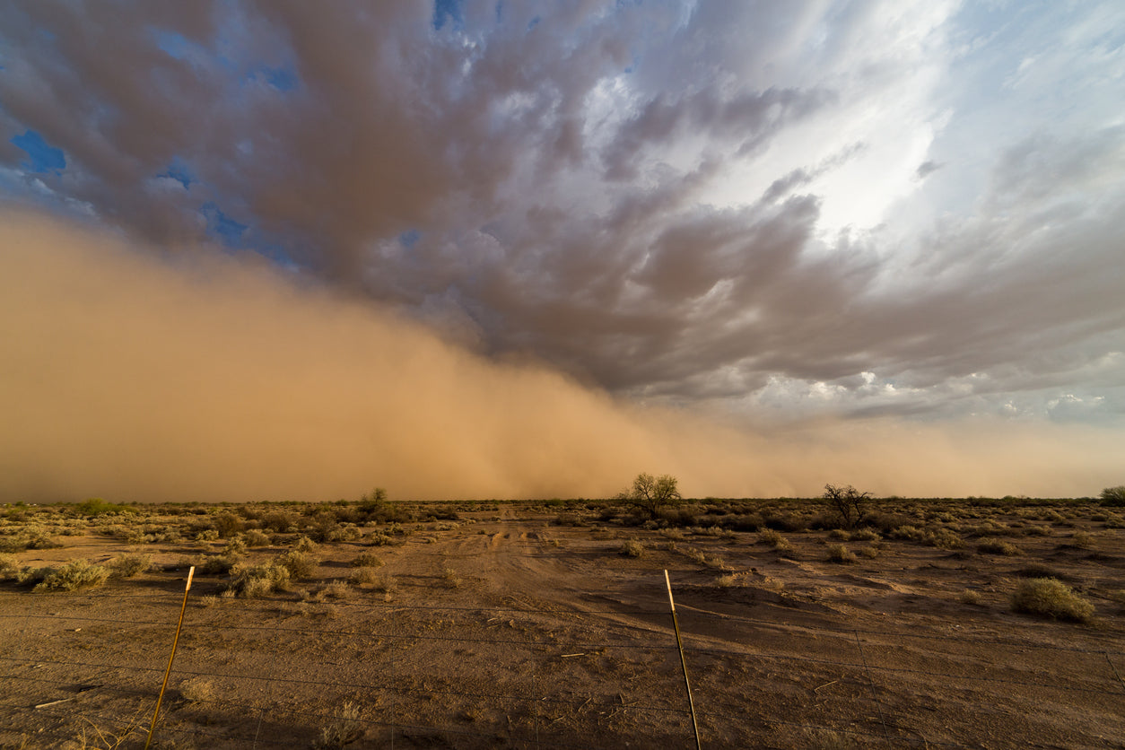 dust storm in Arizona