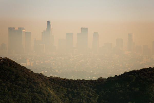 smog and ozone in city