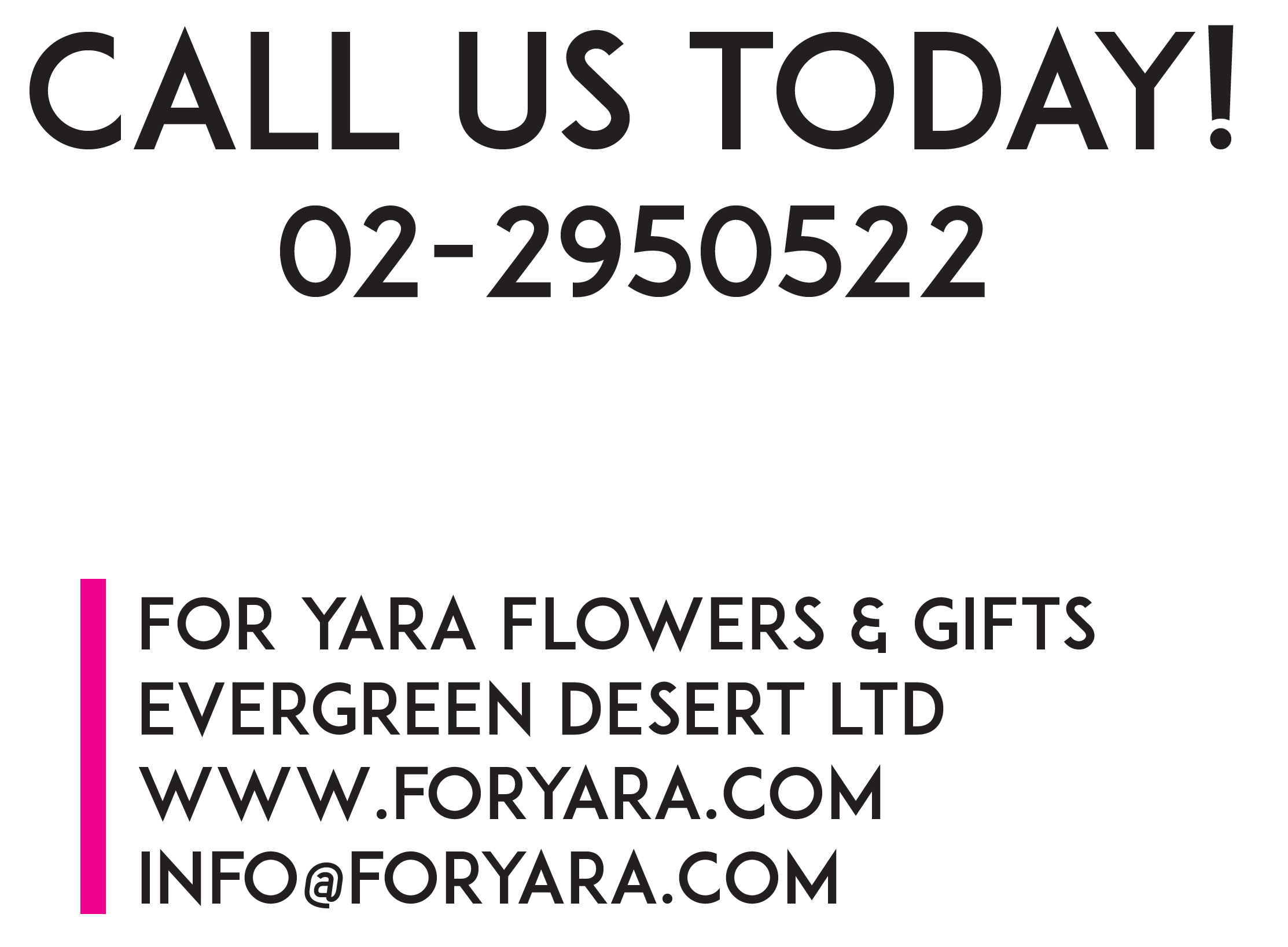 Contact for Yara Flowers and Gifts