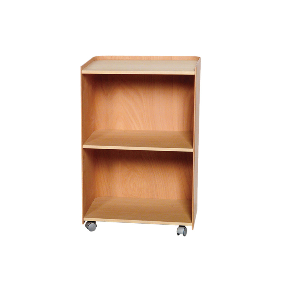 Aeri Large Wood Cart with Three Shelves and Casters