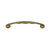 Solid brass curved pull handle with grip notches.