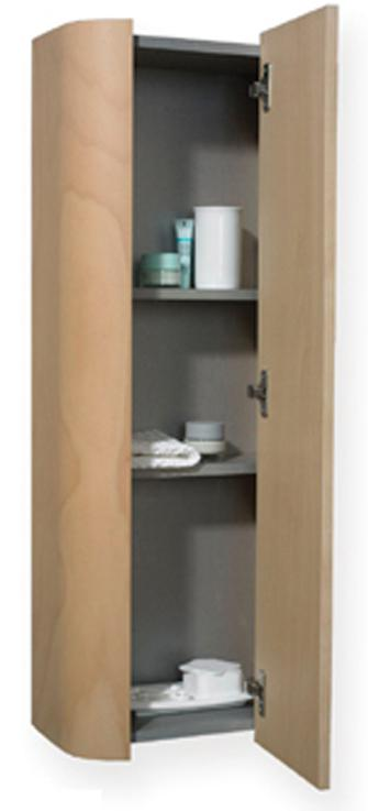 Aeri Vertical Wall Mount Storage Unit with Four Shelves