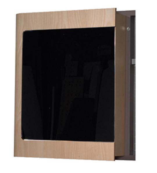 Aeri Single Door Medicine Cabinet with Mirrored Door and Two Shelves