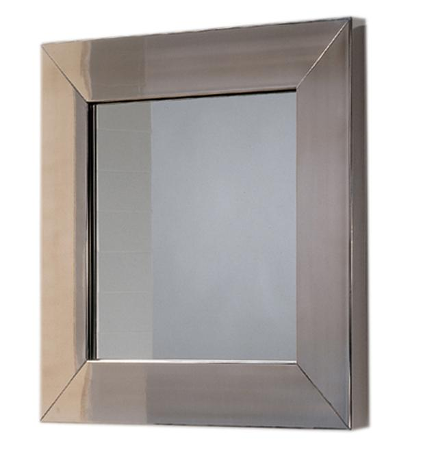 New Generation Matte Square Mirror with Stainless Steel Frame