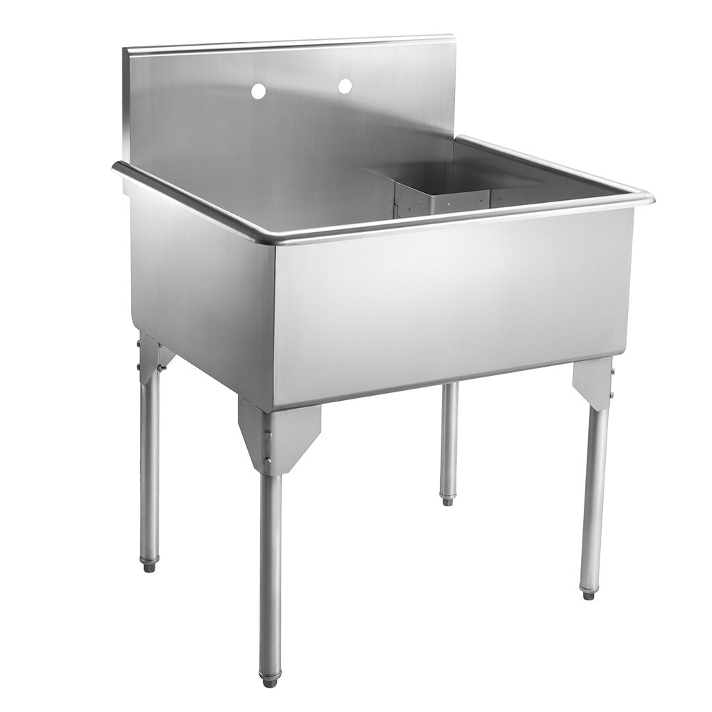 "33"" Pearlhaus Stainless steel single bowl freestanding utility sink"