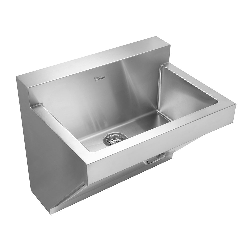 "30"" Noah's Collection stainless steel commercial single bowl wall mount utility sink"