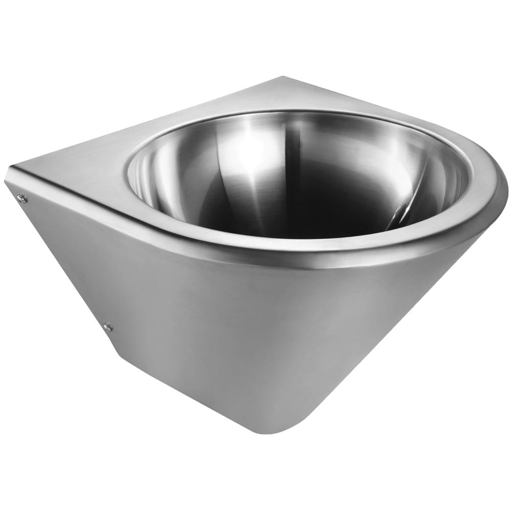 "14"" Noah's Collection Brushed stainless steel commercial single bowl wall mount wash basin"