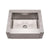 "30"" Noah's Collection Brushed stainless steel commercial single bowl sink with a decorative notched front apron"
