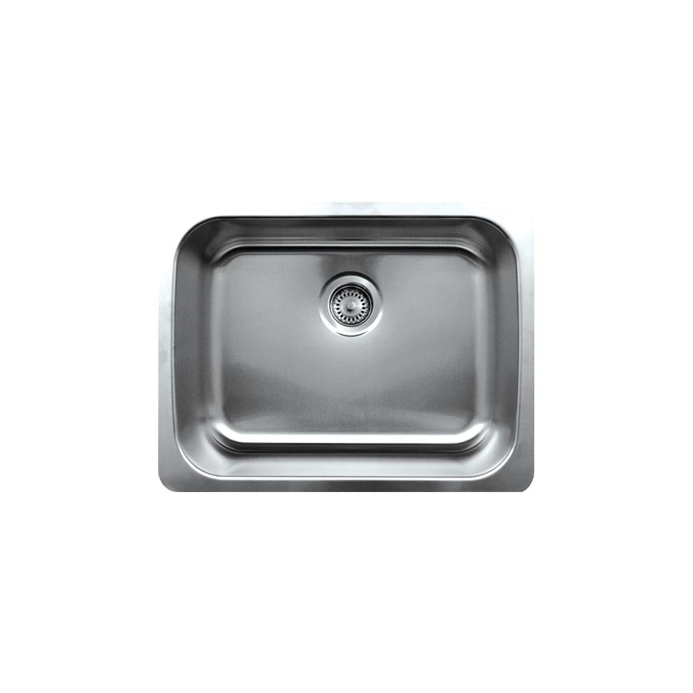 "Noah's Collection 23"" Brushed Stainless Steel Single Bowl Undermount Sink"
