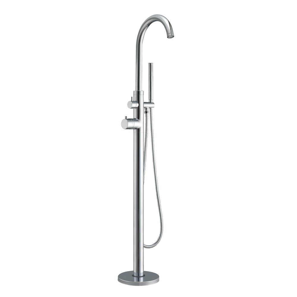 "Bathhaus Freestanding 41"" Single Lever Tub Filler with Integrated Diverter Valve and Hand Held Shower Spray Spray"