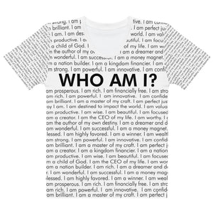 Open image in slideshow, Who Am I? Soft Specialty T-shirt (White)