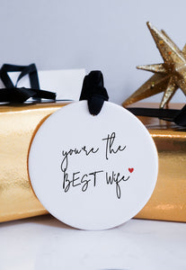 Best Wife Christmas Ceramic Ornament