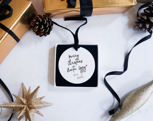 'Merry Christmas' loved one Ceramic Ornament